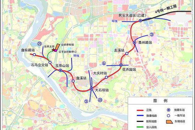 重慶4條軌道線路集中開工 快看看有沒有經過你家?