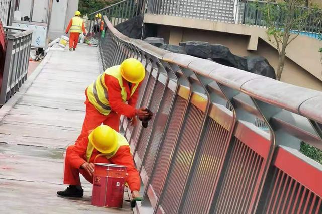 曾家岩大桥南北桥头人行步道预计今年7月前开放通行