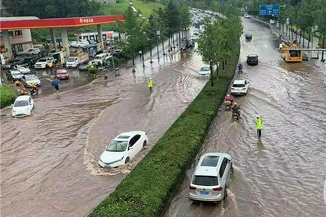 短时强降雨造成中心城区两处积水 最深处达40厘米
