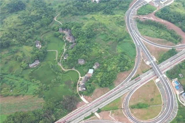 渝宜高速石堰互通立交正式开通 全面提升交通承载能力