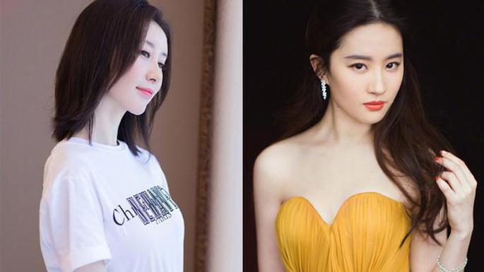 刘亦菲舒畅逛街少女背影神仙颜值
