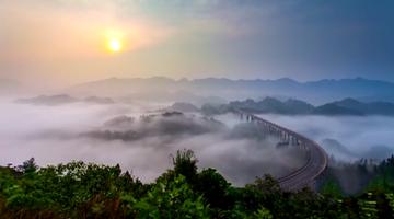 渝北这座桥 号称中国最美云海公路桥