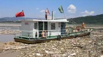 长江江面上出现万吨漂浮物 长达5公里