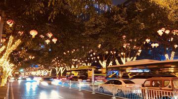 独家:惊艳!新年大坪最美灯光街区