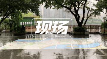 重庆李子坝公园惊现巨大地图