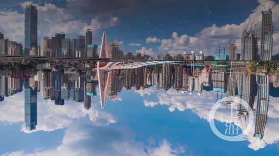 """重庆版""""天空之境"""" 水池倒映渝中半岛"""