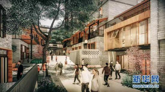 未来的四贤巷餐饮街规划图。新华网发
