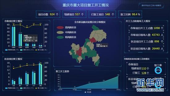 重庆市投资项目基础数据库。新华网 王龙博 摄