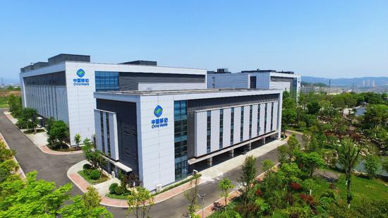 (位于重庆两江国际云计算产业园的中国移动(重庆)数据中心)