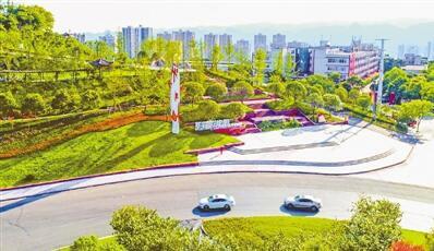游园项目9个,立体绿化项目1个,滨河项目1个,进一步完善公园绿地服务功