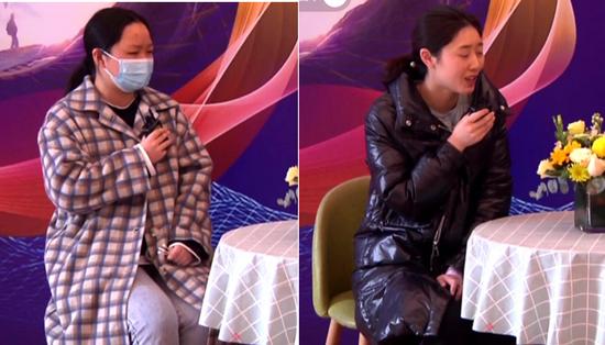 屈光科护士李丹(左)视光部验光师胡琳曦(右)术后分享手术感受
