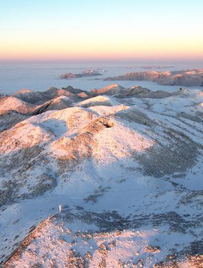 航拍雪后红池坝 群山覆雪云雾笼罩