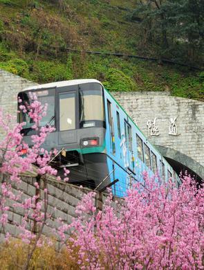 零距离打卡!重庆开往春天的轻轨