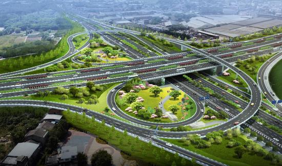 含谷立交设计图(重庆高新区供图)