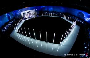 六边形光感T台与动感光柱