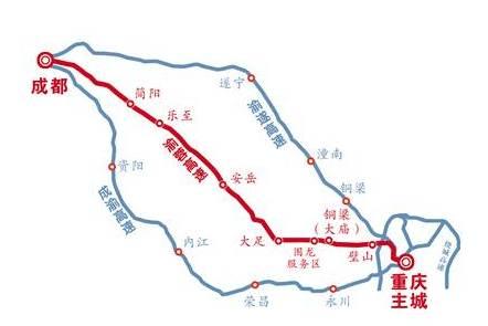 渝蓉高速示意图 制图/丁龙