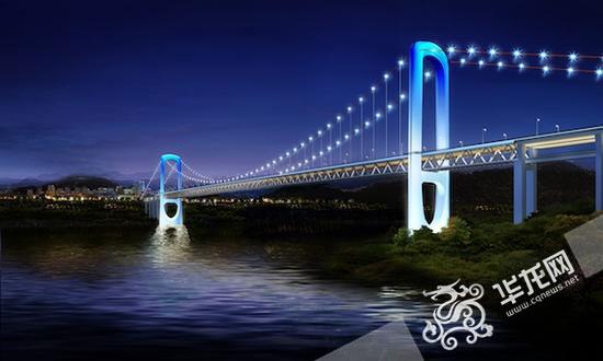 郭家沱大桥效果图。市城乡建委提供
