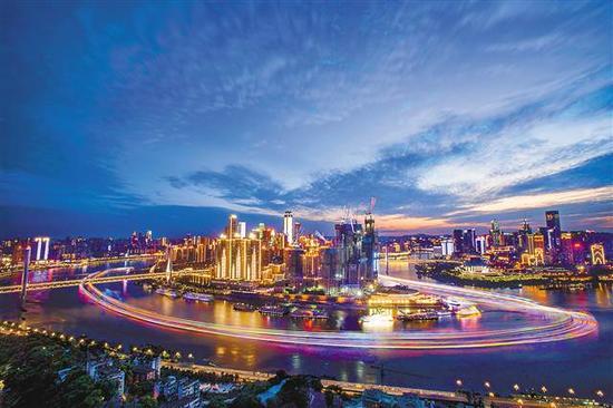 渝中半岛夜景。记者 苏思 摄(本报资料图片)