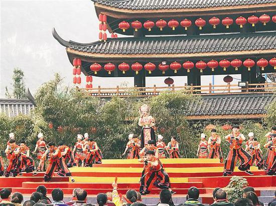 在贵州道真录制的《美丽中国唱起来》。(重庆文理学院供图)