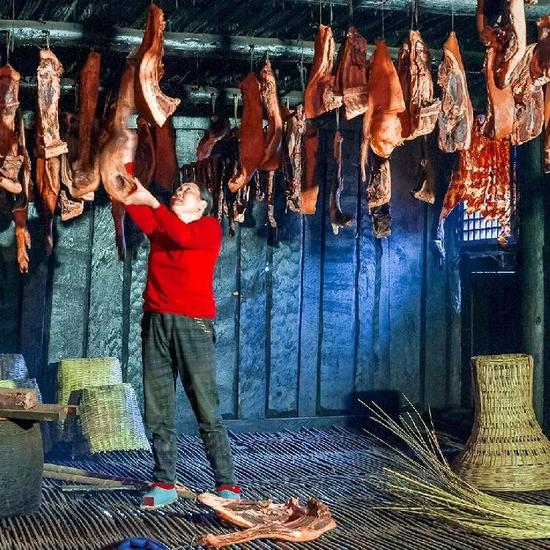 重庆人的年味 不能少了来自城口的老腊肉