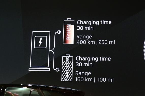 充电30分钟可行驶400km