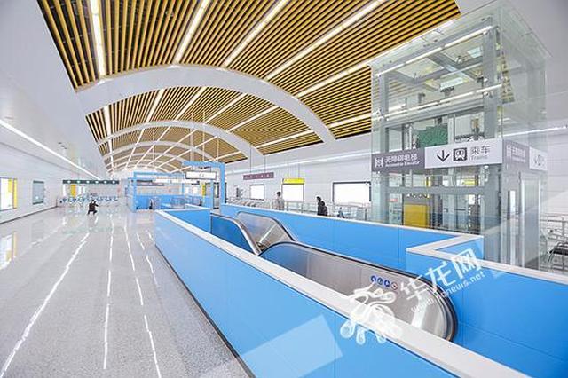 轨道5号线一期北段预计月底通车 车站车厢大曝光