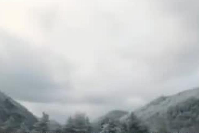 重庆:雪宝山现雾凇美景 银装素裹似仙境