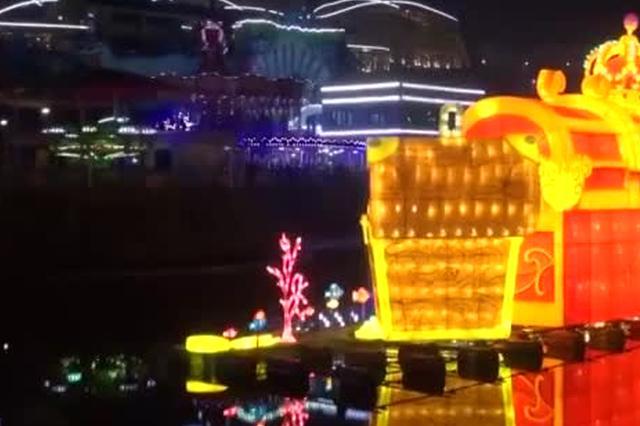 新春临近年味浓 重庆游乐园点亮萌趣彩灯