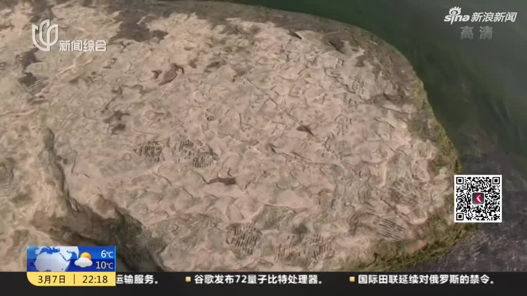重庆江津:长江江底莲花石题刻时隔11年再现身