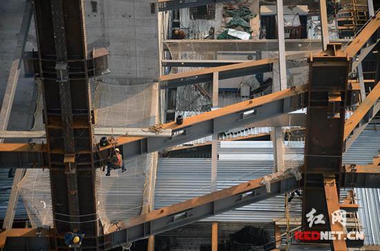 湖南在建第一高楼5天建一层