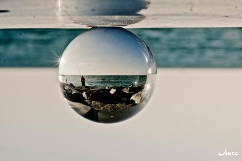 水晶球+易拉罐=倒影世界