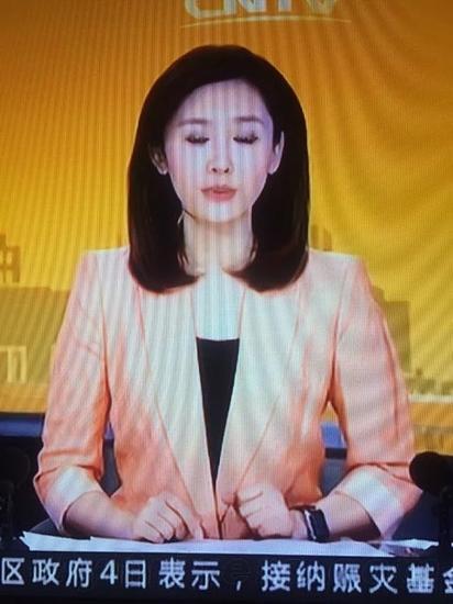 央视美女主播戴苹果表出镜:画面太美