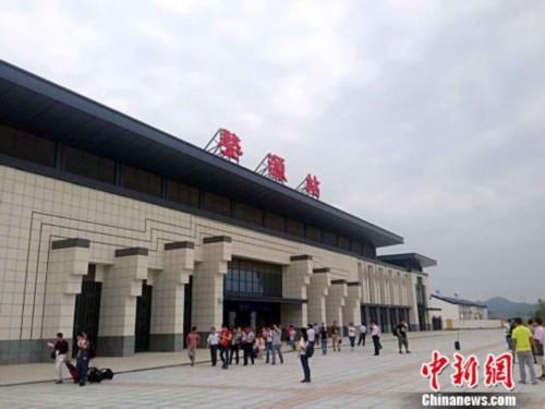 图为即将启用的江西婺源高铁站,具有徽派建筑风格。6月2日摄。刘占昆摄