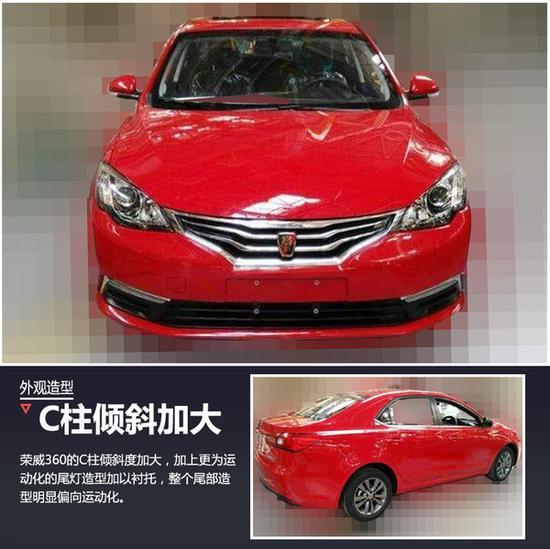 荣威新A级车命名荣威360 搭1.4T发动机高清图片