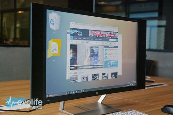曲面屏设计不光是用来看的 惠普[HP]Pavilion 27c显示屏娱乐体验