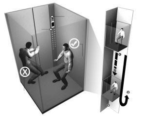 电梯下坠保护动作