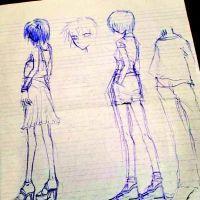 父親曬楊冪15年前動漫手稿 畫中女孩細腰大長腿