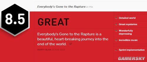 奔跑系统的误会解除后IGN将评分再提升了0.5