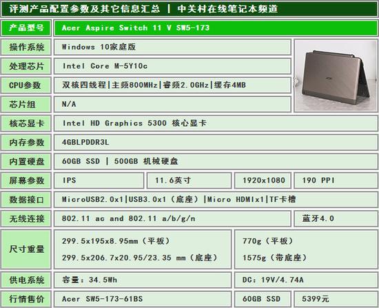 首波Win10来袭 Acer Switch 11V评测