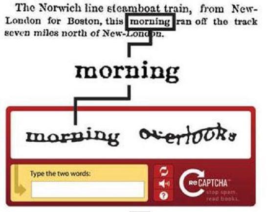 改进后的reCAPTCHA(网络图)
