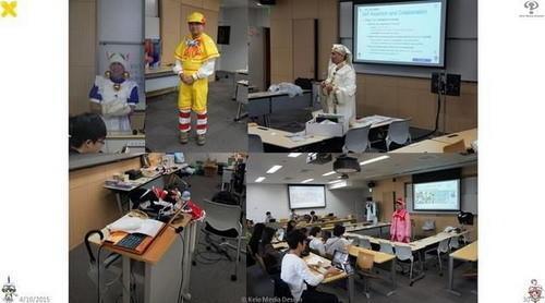 又是别人的大学 岛国教授穿COS服讲解宅男文化