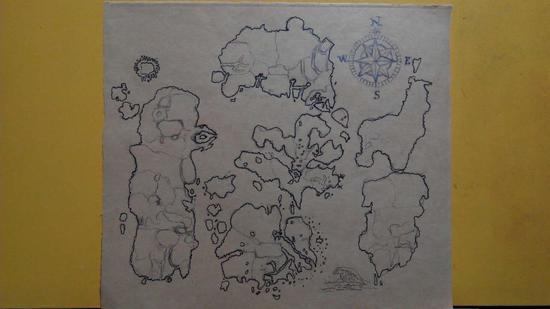 魔兽玩家彩铅手绘艾泽拉斯地图-魔兽世界专区