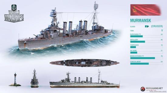 战舰世界摩尔曼斯克巡洋舰