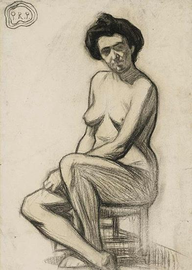 毕加索的素描Femme Nue Assise(创作于1899年,估价20-30万美元)
