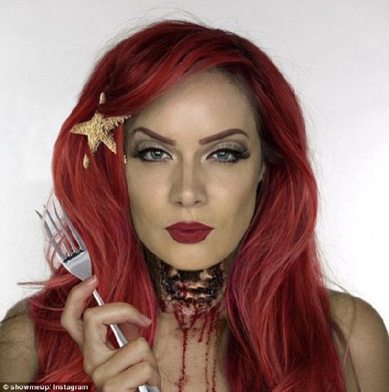 万圣节来袭:化妆师让迪士尼公主变身恐怖主角