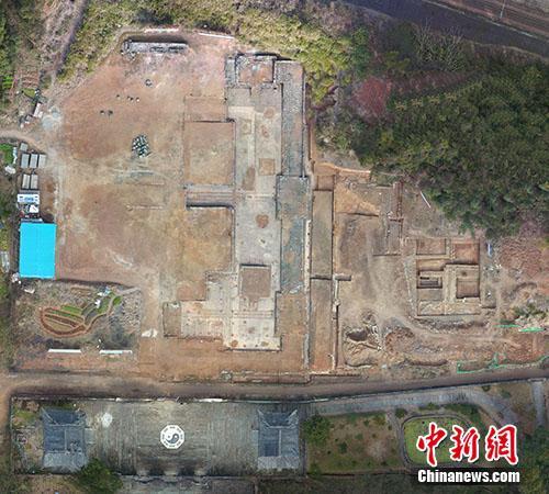 大上清宫遗址总平面图。供图