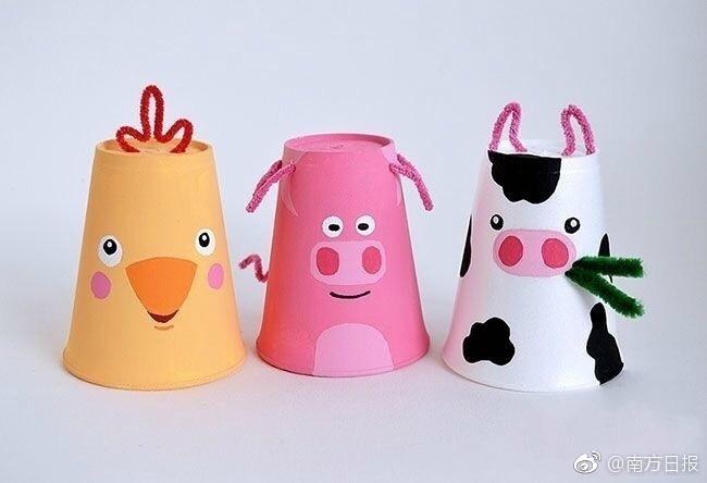 家里的一次性纸杯有大用处了,可以做成各种漂亮的小动物哦图片