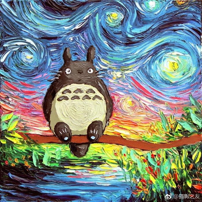 aja kusick 绘画作品,童真和星空的结合,热烈又可爱