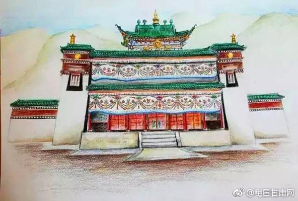 玛曲90后女孩仲格吉原创手绘明信片|画笔中的藏区故事