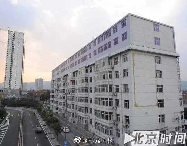 网曝山西太原一幢六层高楼房,短短几小时就变成八层,新增的两层竟